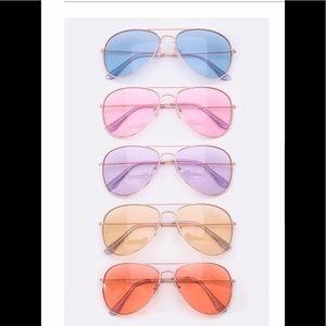 Pastel Aviator Sunglasses